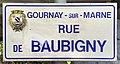 Plaque Rue Baubigny - Gournay-sur-Marne (FR93) - 2021-04-24 - 1.jpg