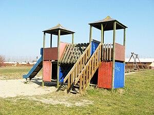 a playground (a slide)