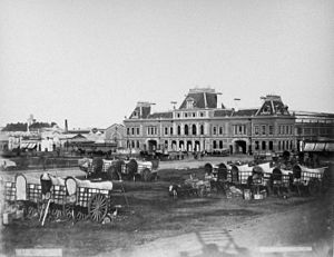 Buenos Aires Great Southern Railway - Constitución station in 1885.