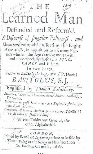 L'huomo di lettere - London: William Leybourn, 1660