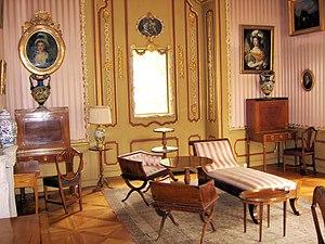Boudoir - A neo-rococo decor boudoir in Nieborów Palace, Poland.