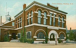 Nashua, New Hampshire - Police station c. 1908
