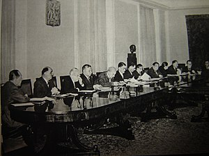 Constitution of the Polish People's Republic - A meeting of the Council of State during the 1960s