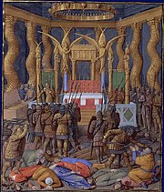 Pompey in the Temple of Jerusalem, by Jean Fouquet