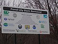Pond Lily Dam site sign with project partners listed (28280439293).jpg