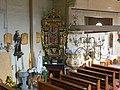 Poniszowice, kościół św. Jana Chrzciciela, ambona, widok z chóru.JPG