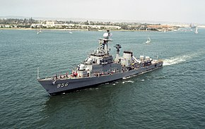 Port view of ROK ship Kyong Buk (FF 956) near San Diego, CA.jpeg