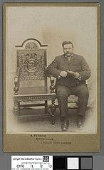 William Deudraeth Jones (of Caegwyn, Penrhyndeudraeth) with Eisteddfod Chair