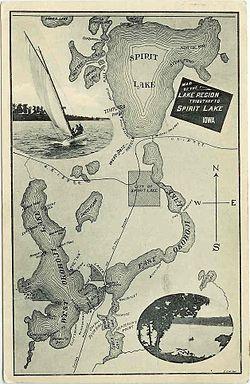 PostcardSpiritLakeRegionIowa1907