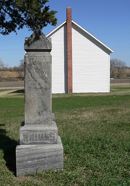 File:Postville Welsh Church from W with Williams tombstone.JPG