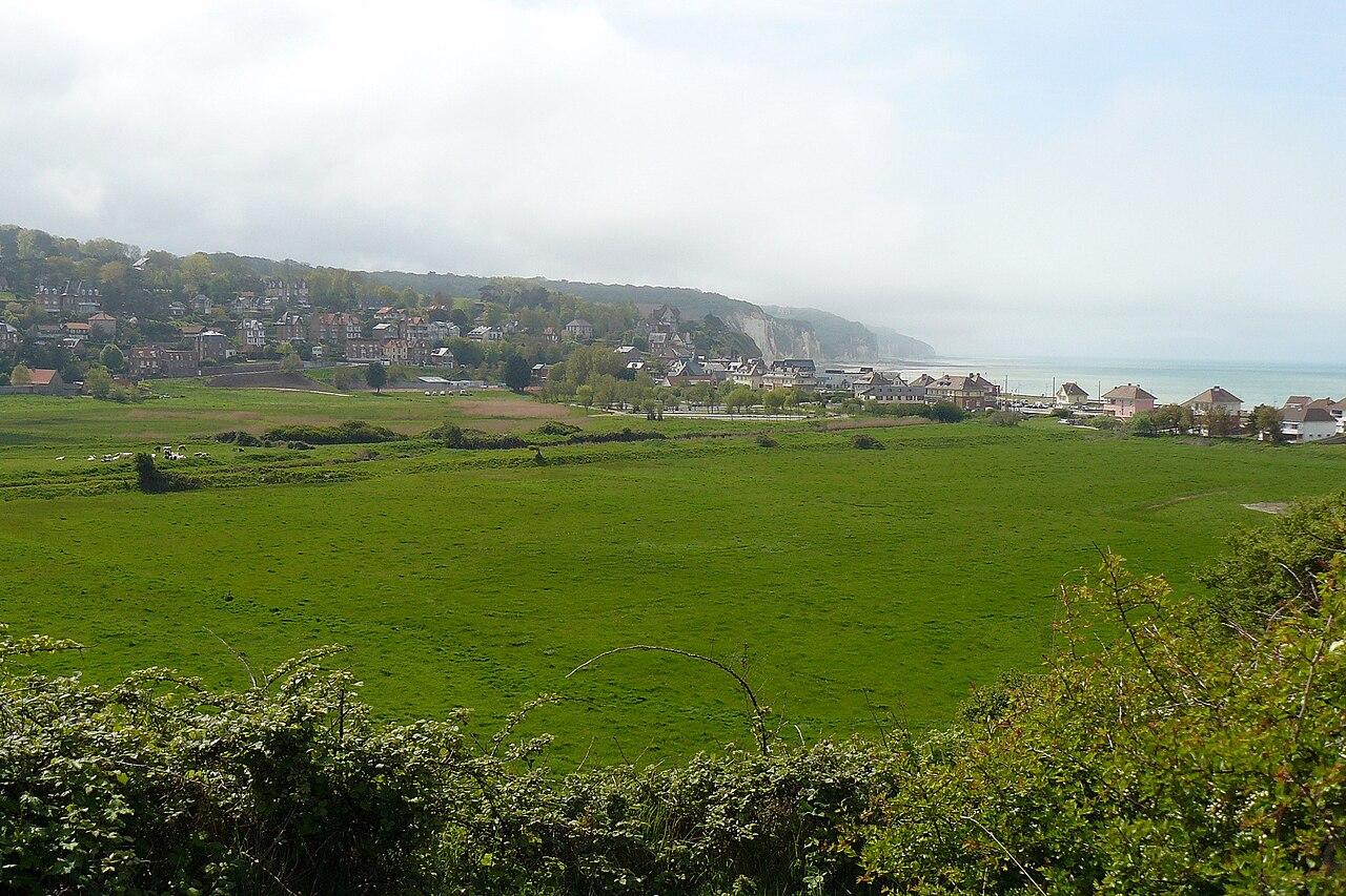 Vue de Pourville-sur-Mer, commune de Hautot.