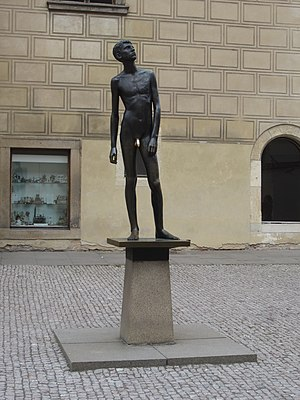 Youth (sculpture) - The statue in 2016