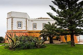 Castle of Senhora da Luz building in Lagos, Faro District, Portugal