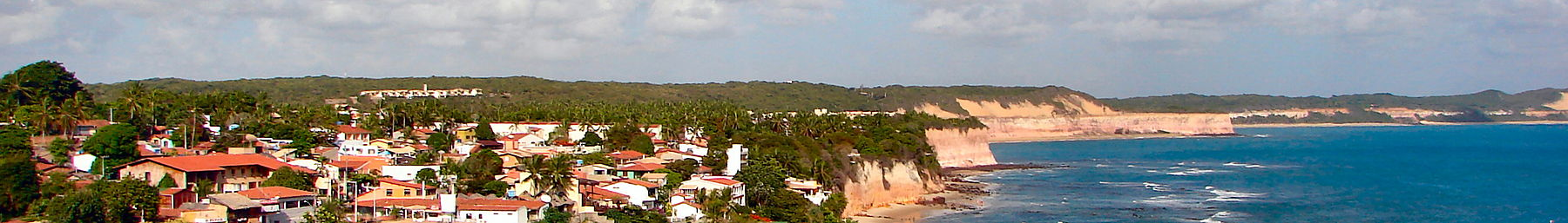 Praia de Pipa banner Beach and town.JPG