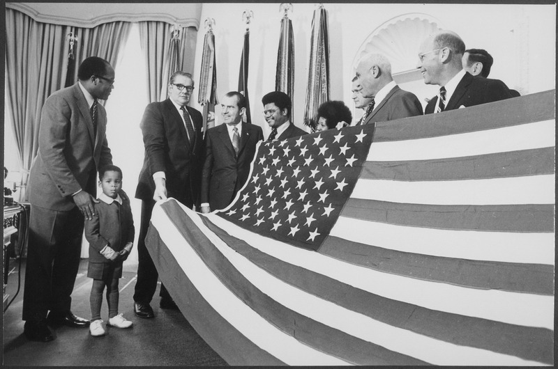 Presentation of American Flag - NARA - 194701