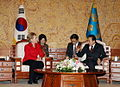 President Lee had a meeting with US Secretary of State Hillary Clinton - 4341632473.jpg