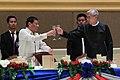President Rodrigo Roa Duterte and Myanmar President U Htin Kiaw toast.jpg
