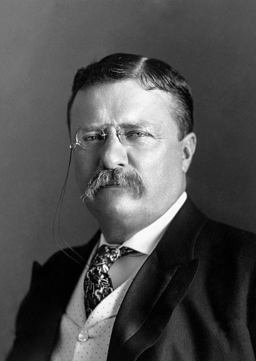 March 4: Theodore Roosevelt at about the time he is sworn in for a full term as 26th President of the United States President Roosevelt - Pach Bros.jpg