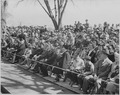 President Truman attends the Army Day parade in Washington, D. C. This view shows the crowd watching the parade. - NARA - 199621.tif