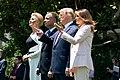 President Trump, First Lady Melania Trump, President Duda, and Mrs. Duda Watch an F-35 Flyover (48055682001).jpg