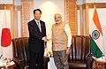 President of the Democratic Party of Japan Banri Keida meets PM Modi.jpg