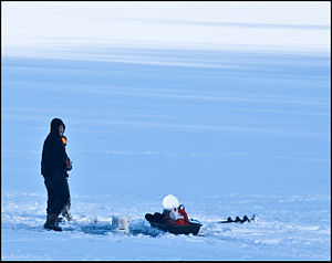 Prince Gallitzin State Park - Ice fishing on Glendale Lake at Prince Gallitzin State Park
