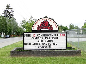 Princess Margaret Secondary School (Surrey) - Image: Princess Margaret Secondary (noticeboard 2010)