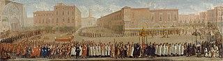 La Procession des corps saints sortant de la cathédrale Saint-Etienne