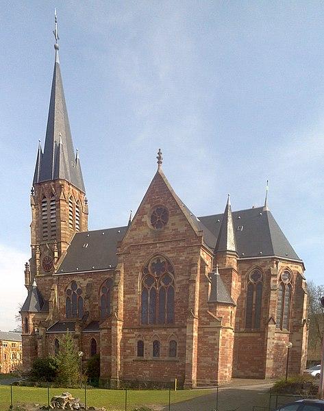 Protestantisch-lutherische Pfarrkirche Forbach, Nordwestfassade