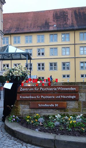 Winnenden school shooting - Psychiatric institution nearby Winnenden school where Kretschmer killed a 56-year-old employee