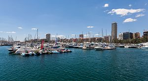 Port of Alicante - View or the port.