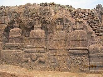 Pushpagiri Vihara - Image: Pushpagiri (Langudi Hill) Jajpur Odisha Buddhist site Rock Cut Stupas