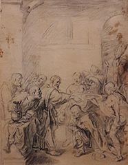 Saint Peter baptizing the centurion Cornelius