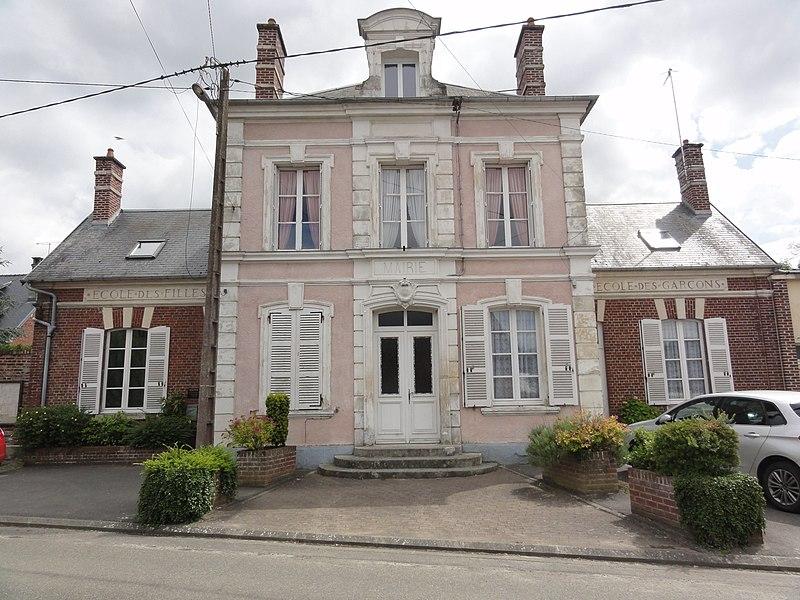 Quierzy (Aisne) mairie-école