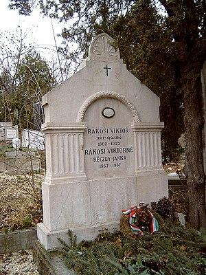 Viktor Rákosi - Rákosi's tombstone Farkasréti Cemetery in Budapest. 49/5–1–3.