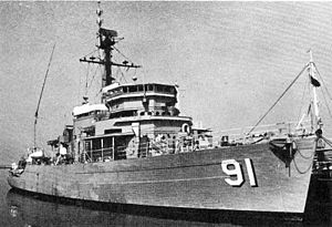 USS Energy (AM-436) - Energy after transfer to the Philippines in the 1970s as Davao del Norte (PM 91).