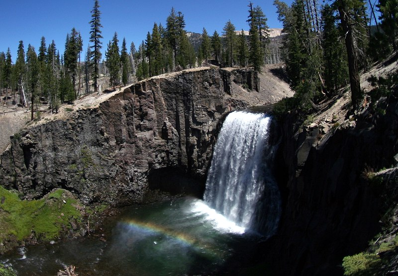 File:Rainbow fall at Devils Postpile National Monument.jpg