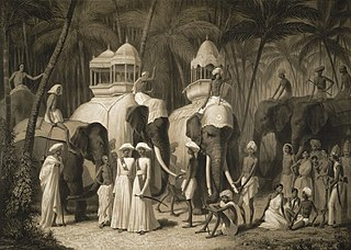 Howdah Carriage placed on the back of an elephant, camel, or other animal