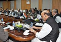 Rajnath Singh reviewing the law and order situation of Manipur, in Imphal. The Chief Minister of Manipur, Shri Okram Ibobi Singh, the State authorities and the members of security agencies are also seen.jpg