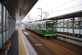 Randen-Tenjingawa Station - Image: Randen Mobo 501 tram