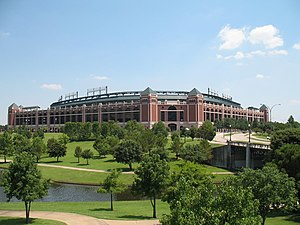 Texas Rangers (baseball) - Rangers Ballpark in Arlington opened in 1994