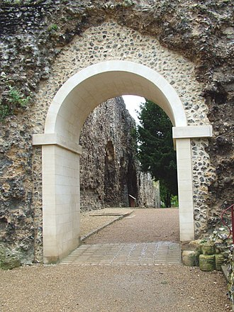 Reading Abbey - Restoration of an arch done in 2004