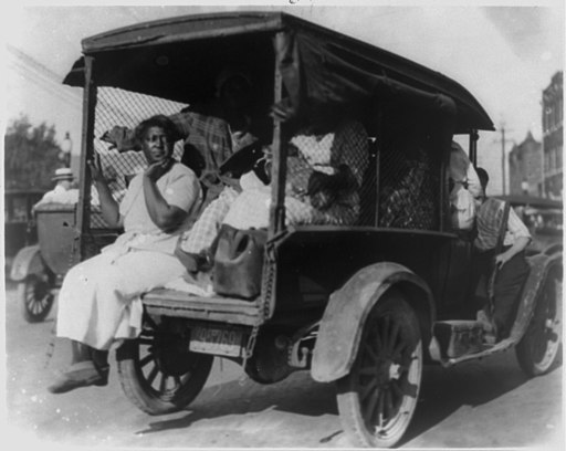 Rear view of truck carrying African Americans during the Tulsa, Okla. riot of 1921) - by Alvin C. Krupnick Co., Tulsa, Okla LCCN95519929