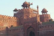 The Lahori gate of the Red Fort