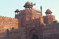 The Delhi Fort, also known as the Red Fort, is one of the popular tourist destinations in Delhi.
