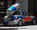 Red Bull advertising Mini in Canberra City Centre.jpg