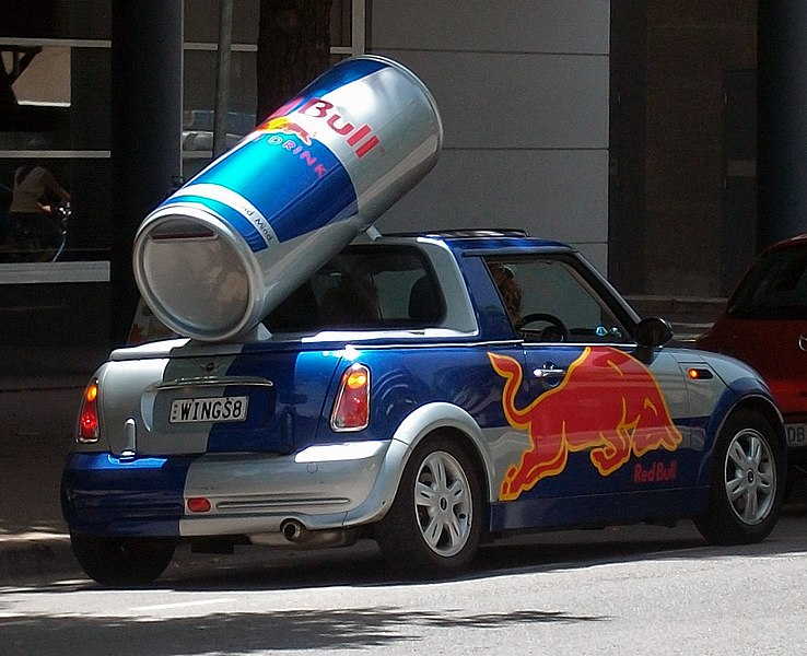 File:Red Bull advertising Mini in Canberra City Centre.jpg ...