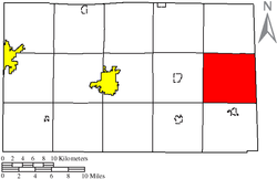 Location of Reed Township in Seneca County