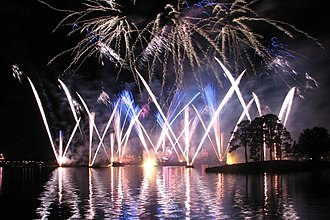IllumiNations: Reflections of Earth - Firework launch during Act II