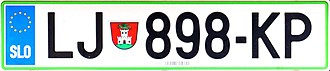 Vehicle registration plates of Slovenia - Registration plates from June 2008